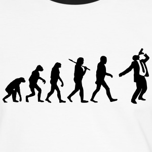 Evolution of saufen T-Shirts - Männer Kontrast-T-Shirt