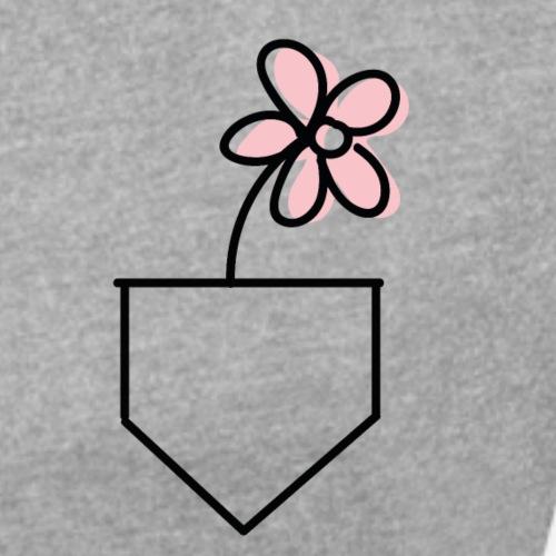 Blume in Tasche