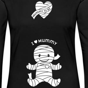 Halloween Mummy Maternity Long Sleeve Shirts - Women's Premium Longsleeve Shirt