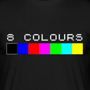 8 Colors Sinclair Spectrum Farb-Palette - Männer T-Shirt