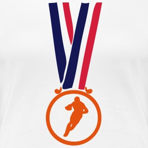 football americain champion medaille T-Shirts - Frauen Premium T-Shirt