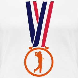 golf champion medaille T-Shirts - Frauen Premium T-Shirt