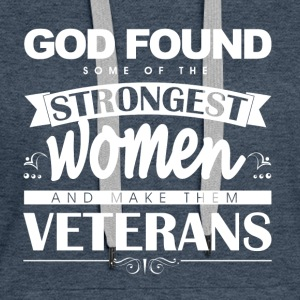 Women-Veterans_white Hoodies & Sweatshirts - Women's Premium Hoodie