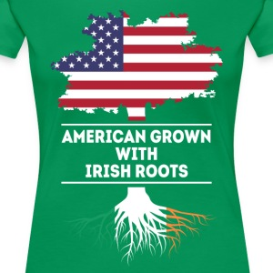 American grown with Irish Roots Irish T Shirt T-Shirts - Women's Premium T-Shirt