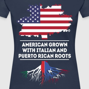 Italian and Puerto Rican Roots T-shirt T-Shirts - Women's Premium T-Shirt