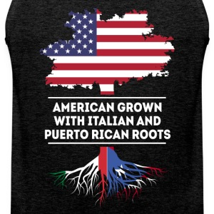 Italian and Puerto Rican Roots T-shirt Sports wear - Men's Premium Tank Top