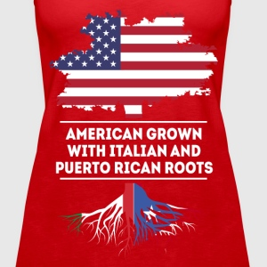 Italian and Puerto Rican Roots T-shirt Tops - Women's Premium Tank Top