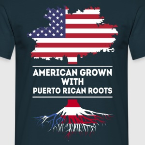 American grown with Puerto Rican Roots T-shirt T-Shirts - Men's T-Shirt