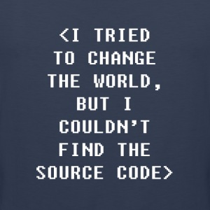 I Couldnt Find The Source Code Programmers T-shirt Sports wear - Men's Premium Tank Top