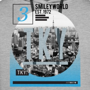 SmileyWorld Tokio Skyline - Sweat-shirt à capuche Premium pour hommes