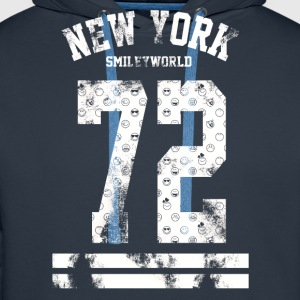 SmileyWorld 'New York 72' - Men's Premium Hoodie