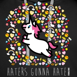 SmileyWorld Haters Gonna Hate - Sweat-shirt à capuche Premium pour hommes