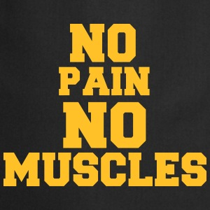 no pain no muscles Tabliers - Tablier de cuisine