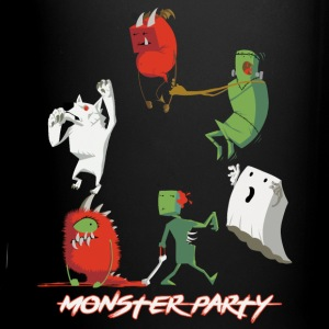 Halloween Monster Party - Tasse einfarbig