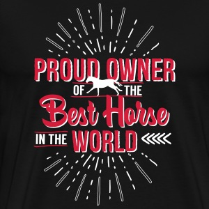 Owner of the world's best horse T-Shirts - Men's Premium T-Shirt