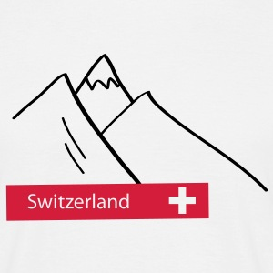 Switzerland Mountains - Schweiz Berge - Swiss - Männer T-Shirt