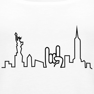 new york skyline Tops - Frauen Premium Tank Top