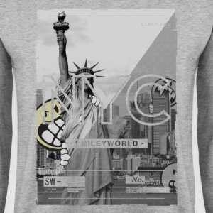 Smileyworld 'NYC 64 Aven Skyline' - Men's Sweatshirt