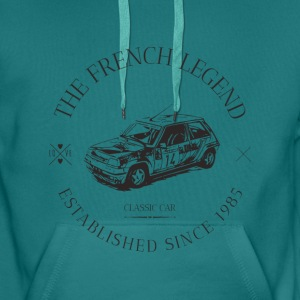 RENAULT SUPER 5 GT TURBO FRENCH CAR Sweat-shirts - Sweat-shirt à capuche Premium pour hommes