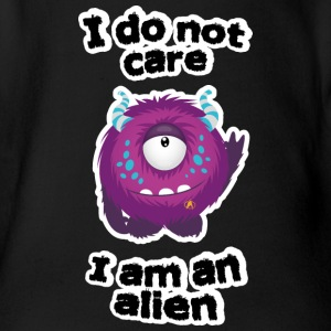 Is me anyway, I'm an alien Baby Bodysuits - Organic Short-sleeved Baby Bodysuit