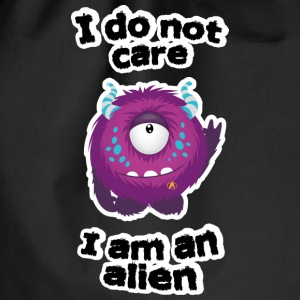 Is me anyway, I'm an alien Bags & Backpacks - Drawstring Bag