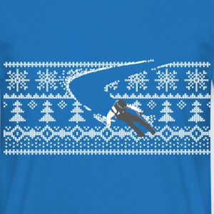 skier Norwegian sweater pattern T-Shirts - Men's T-Shirt