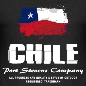 Chile Flag Logo  T-Shirts - Männer Slim Fit T-Shirt