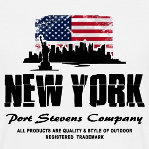 New York Skyline - USA Flag T-Shirts - Männer T-Shirt