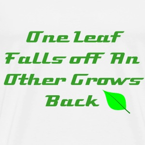 One Leaf T-Shirt Mens - Men's Premium T-Shirt