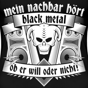 Black Metal 02 T-Shirts - Frauen Premium T-Shirt