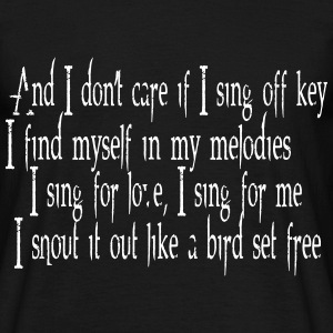 SIA Lyrics: Bird Set Free T-skjorter - T-skjorte for menn