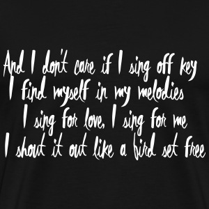 Lyrics: Bird Set Free T-Shirts - Männer Premium T-Shirt