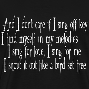 SIA Lyrics: Bird Set Free T-shirts - Premium-T-shirt herr