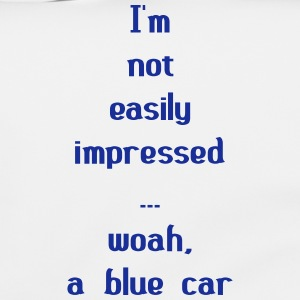 I'm Not Easily Impressed ... Woah, A Blue Car! Tassen & rugzakken - Schoudertas