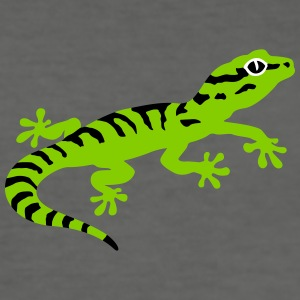 Stripped gecko T-Shirts - Men's Slim Fit T-Shirt