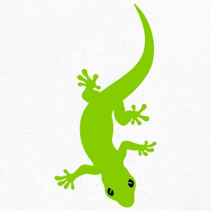 Curved Gecko T-Shirts - Men's V-Neck T-Shirt