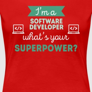 Software Developer Superpower Professions T Shirt T-Shirts - Women's Premium T-Shirt