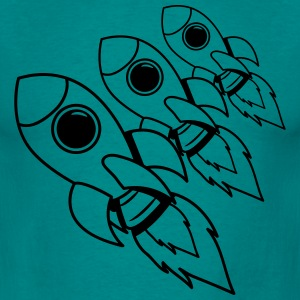 rockets flying space travel T-Shirts - Men's T-Shirt