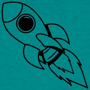 rocket space travel flying T-Shirts - Men's T-Shirt