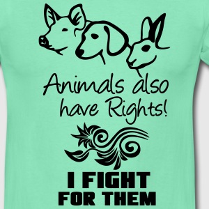 Animals have Rights T-Shirts - Men's T-Shirt