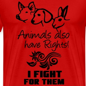 Animals have Rights T-Shirts - Men's Premium T-Shirt