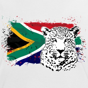 Leopard - South Africa Flag  T-Shirts - Frauen Kontrast-T-Shirt
