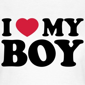 I love my Boy T-Shirts - Frauen T-Shirt