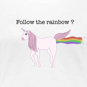 Follow the rainbow? - Frauen Premium T-Shirt