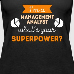 Management Analyst Superpower Professions T Shirt Tops - Women's Premium Tank Top