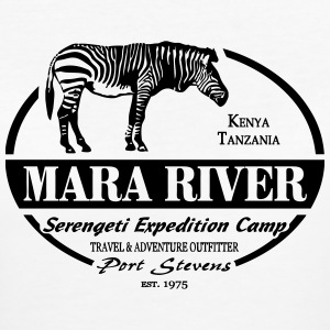 Zebra - Mara River - Serengeti Adventures T-Shirts - Frauen Bio-T-Shirt