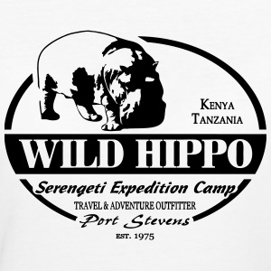 Hippo - Serengeti Adventures T-Shirts - Frauen Bio-T-Shirt