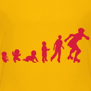 evolution skating derby baby foetus T-Shirts - Kinder Premium T-Shirt