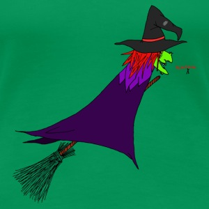 Witch flies on the broom T-Shirts - Women's Premium T-Shirt