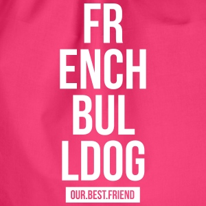 French Bulldog Script - Turnbeutel